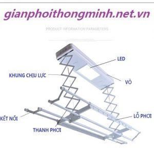 giàn phơi điều khiển tự động DKNV-04