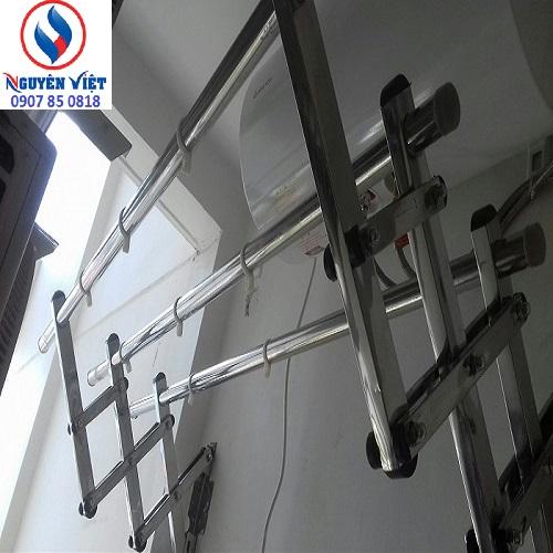 giàn phơi inox 304 gắn tường được nhiều khách hàng sử dụng nhất