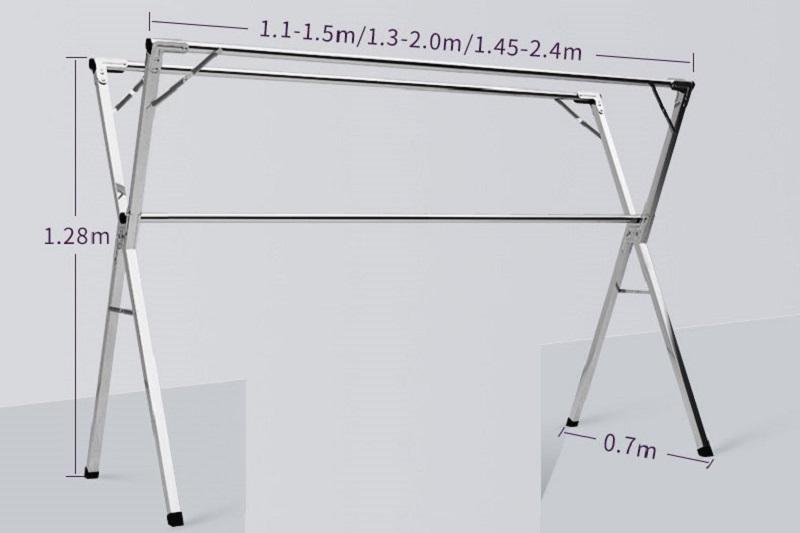 kích thước cơ động cho cây phơi đồ SNV-01