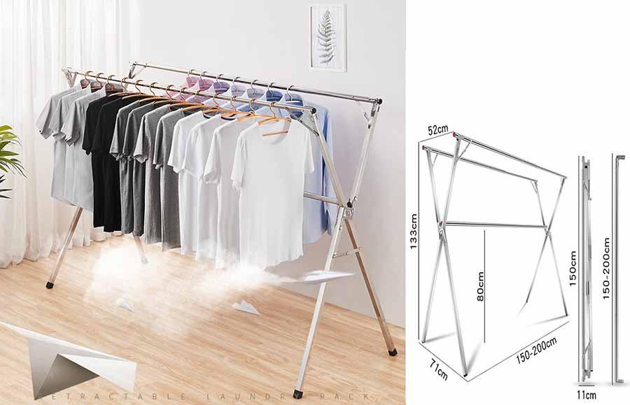 giá phơi quần áo gấp gọn